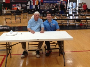 Leadership Consultant Bill Morosco with Bob Knight at a Chicago coaching clinic last week.