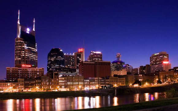 The Nashville skyline. Image courtesy of Kaldari via the Wikimedia Commons.