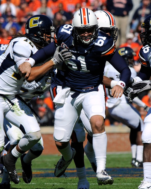 Auburn deep snapper Josh Harris. Credit: Todd Van Emst