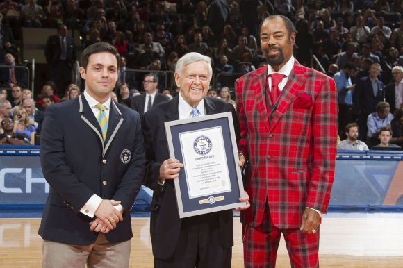 Sigma Nu Hall of Fame inductee Bob Wolff (Duke) is now the Guinness World Record holder for longest sportscaster and broadcasting career.