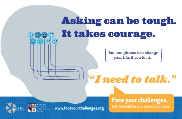 A poster the chapter created to promote the Face Your Challenges program.