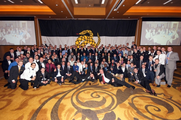Over 175 Mu Kappa brothers attended the chapter's 20th anniversary celebration on October 24th and 25th. The weekend was highlighted by the first use of the Alumni Rededication to Honor Ceremony and speeches by both past Regent Joe Gilman and university president Dr. Kenneth Dobbins.