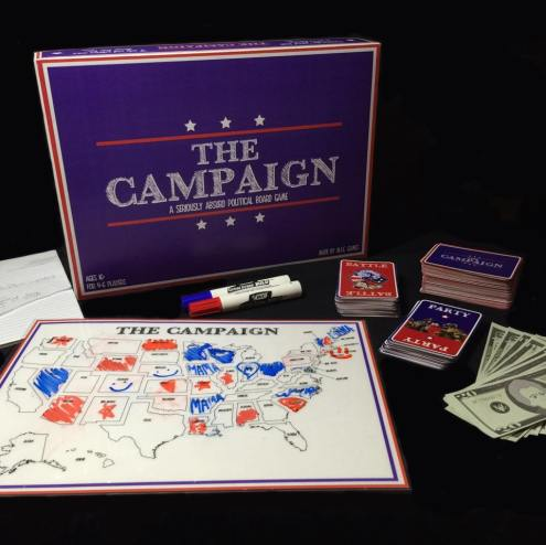 The Campaign board game created by three Beta Chi Brothers.