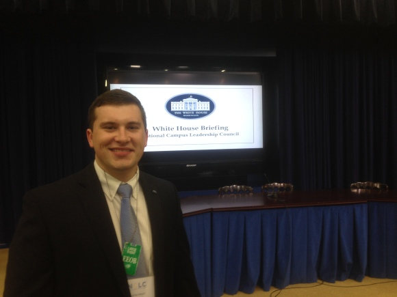 Austin Finley at the White House to discuss Higher Education policy with other student leaders across the country.