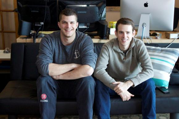 Frazier, right, along with Chuong Nguyen (not pictured) and Kenny Cason, left, moved to Fayetteville, Ark. in 2011 to found DataRank.