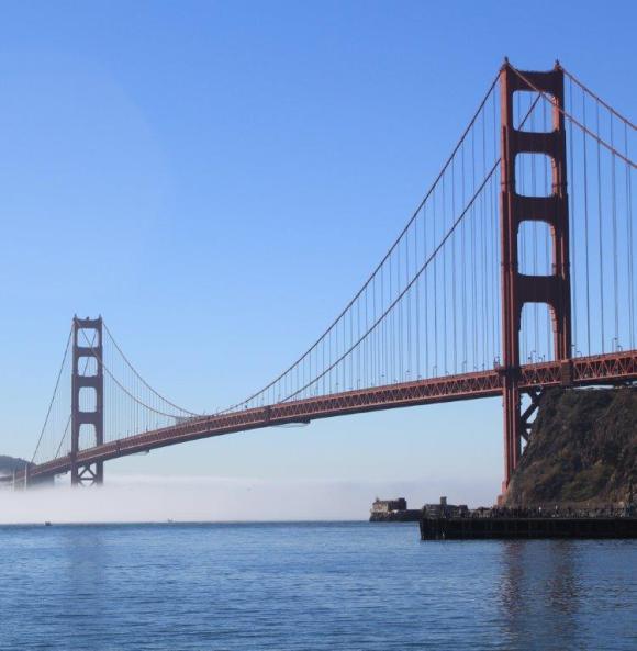 Golden Gate Bridge with fog cropped